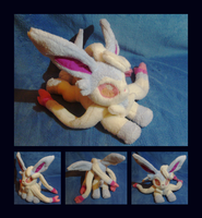 Shiny Sylveon Floppy Plush by Lighiting-Dragon