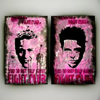 Fight Club Rules: Jack and Tyler Portrait Panels by MarkItZeroNET