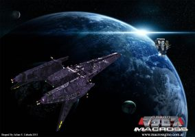 The Encounter - Macross 3d by asgard-knight