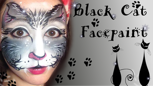 Black Cat Facepaint Tutorial by SophieXSmith