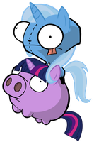 Trixie Gir on Twilight Pig by MrBarthalamul