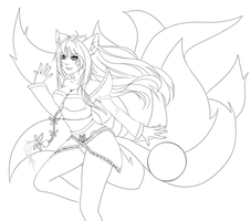 Ahri, the Nine-Tailed Fox by x-Inflict-x