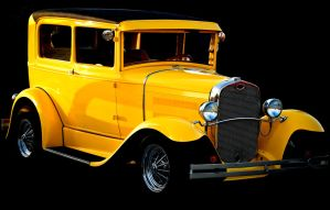 Yellow Ford on black by jmotes