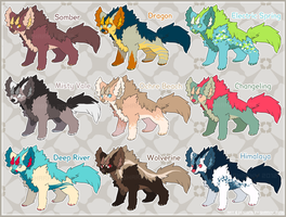 Tundrayena Adoptables Batch 1 [5/9 OPEN] by albinosharky