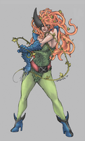 Poison Ivy + Wolverine by JomanMercado