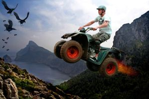 Mountain Quad Rider Tim by JacqChristiaan