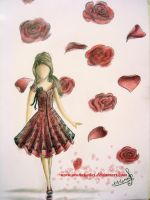 rose-dress design by monakadaj