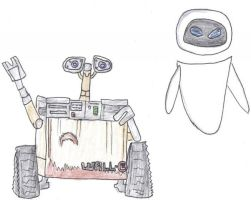 Wall.e and Eve by VioletAnne9