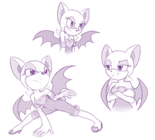 Rouge - sketch by Vampirenok