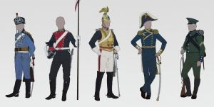 Cavalry, navy and rifles. by cruorvolt