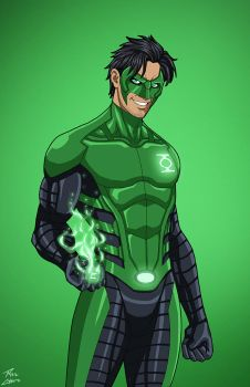 Green Lantern [Kyle Rayner] (Earth-27) commission by phil-cho