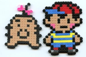 Ness and Mr.Saturn by Frost-Claw-Studios