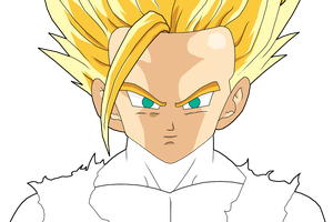 Teen Son-Gohan SSJ2 Half Done by DBZArtist94