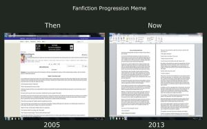 Fanfiction Progression Meme by xFlowerstarx