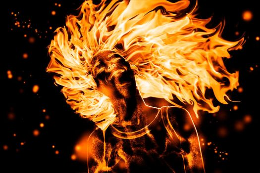 Flaming Hair Girl by DPFan4Ever