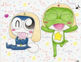 Keroro and Tamama by Chenanigans