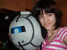 Portal 2 - Wheatley Plushie 2 by Distraction-Number-4
