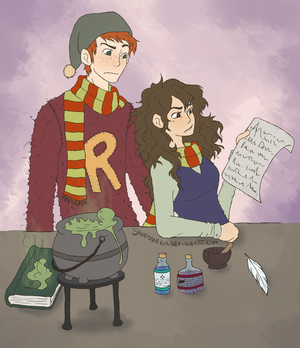 Studying Potions - Colored by skurshecia