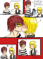 MattxMello-Chocolate Kisses XD by yuuyami-artist