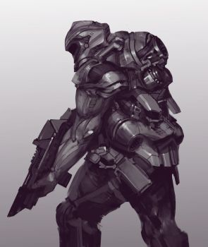 Sci-fi Soldier Sketch by N7U2E