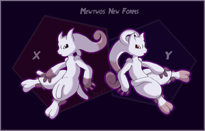 Mewtwos New Forms by PsyLady