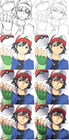 Pokemon - Ash (STEP BY STEP) by Hananon