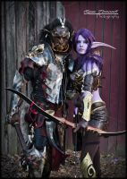 Orc and Night Elf by Red-Dragon-Lord