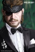 Naked Snake (Big Boss) in tuxedo by ppleong