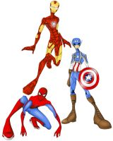 Marvel Supers by MizMaxter