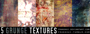5 Grunge textures by Franshui