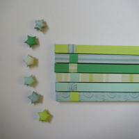 Green Origami Lucky Star Strip by CelticKnot003