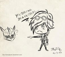 Ezreal and Jurassic Kog'Maw by sonicJKevin