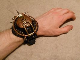 -Mockturtle- - a steampunk watch bracelet by ChanceZero