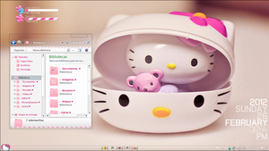 My Desktop Pink of Hello Kitty by a-Sonrix