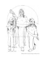 Norns Preliminary Pencils by JeffDee