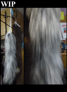 WIP 2 30IN SUMMER MOLT ARCTIC FOX TAIL by GuardiansWish