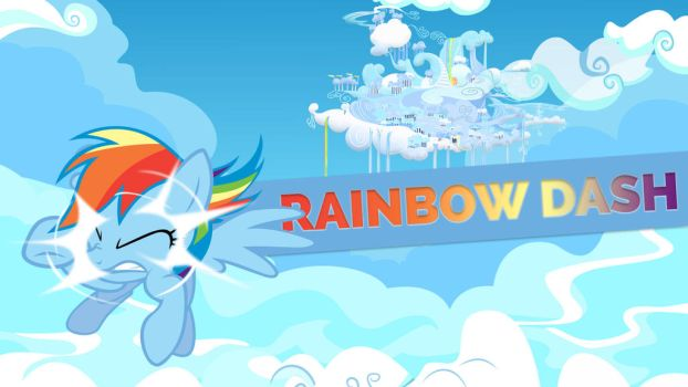 Rainbow Dash Wallpaper w/ Nameplate by EquestriaNow