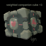 weighted companion cube by candybeyatch