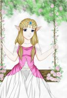 A Lazy Afternoon-Zelda by ChibiRed
