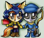 Chibi Thief/Cop love by Moon-Shyne