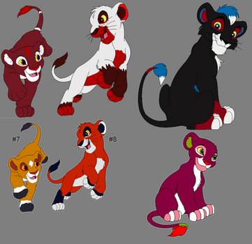Soda Adoptables  from ~SolitaryGrayWolf by Teazerkitt