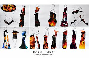 Collage - Fashion Illustrations by Renny222