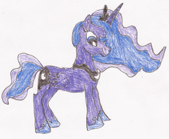 Princess Luna Pony Drawing by SoraJayhawk77