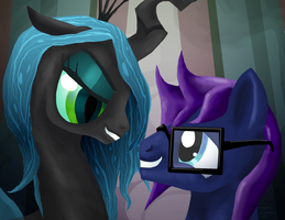Blizzard and Chrysalis by jagged-1