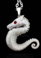White Dragon Red Eyes by carmendee