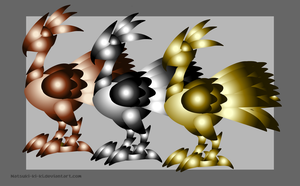 Metal Birds by Inkblot-Rabbit