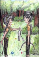 Katniss and Gale by blindbandit5