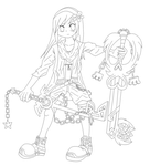 Lineart Of My Character by Athrunzz