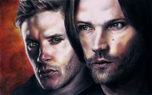 Dean and Sam (J. Ackles, J. Padalecki) #7 by jacsch71