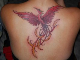 Phoenix tattoo by carobni